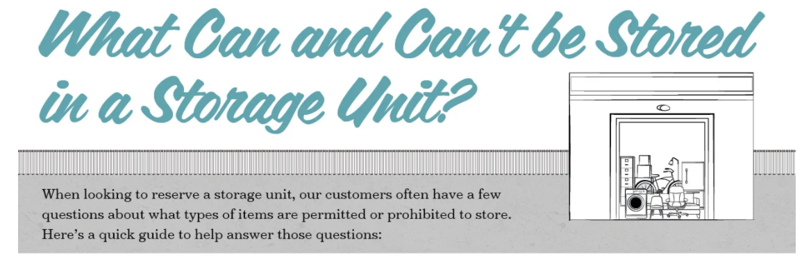 What Can and Can't be Storage in a Storage Unit by Bargain Storage
