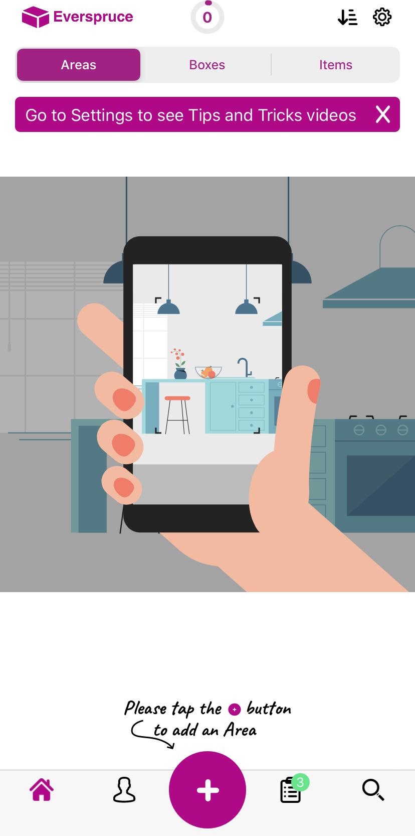 Everspruce self-storage app