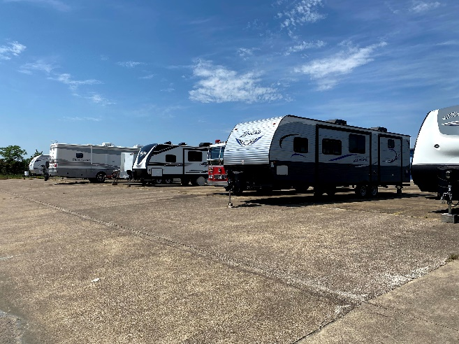 Open Uncovered RV and Boat Storage Lot