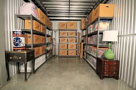Shelving in a Self Storage Unit to help keep you Organized