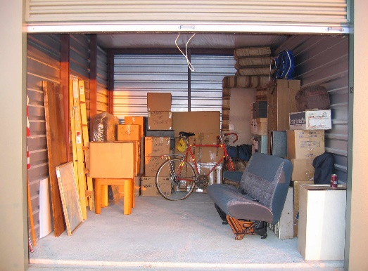 Arranging your items against the wall of your self storage unit