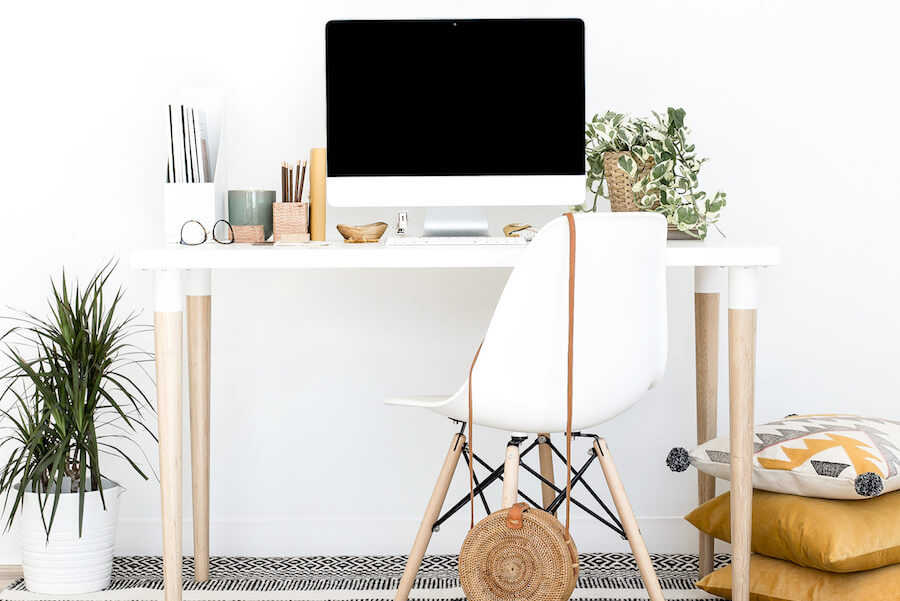 Decluttered Home Office Help Promote Productivity