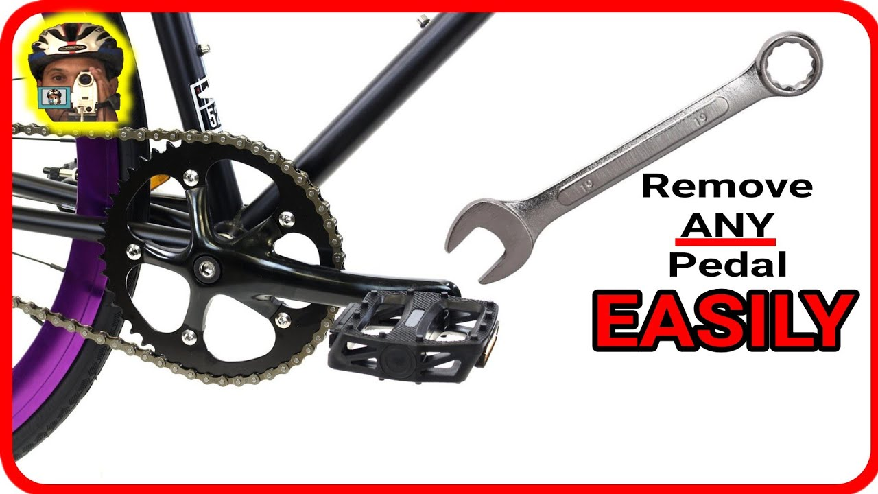 How to remove bicycle pedals easily YouTube Video