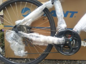 How your bike should look once padded