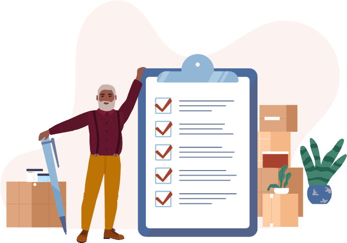 Downsizing Tips for Seniors includes setting a timeline for the project