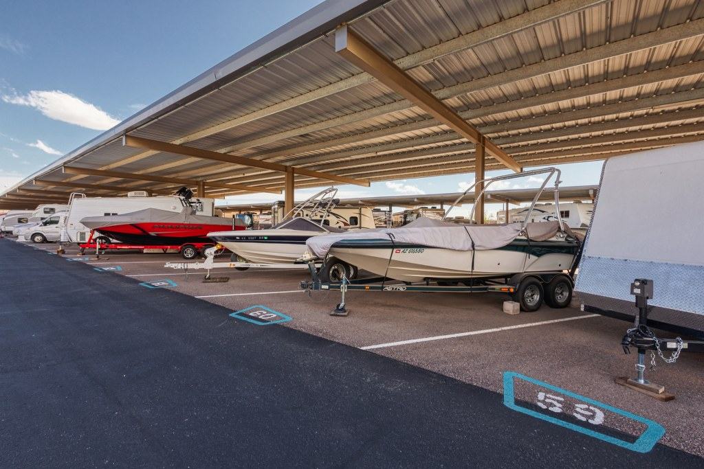 Covered Boat and RV Storage Spaces