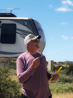 Tom Seibolt flies kite on RV trip