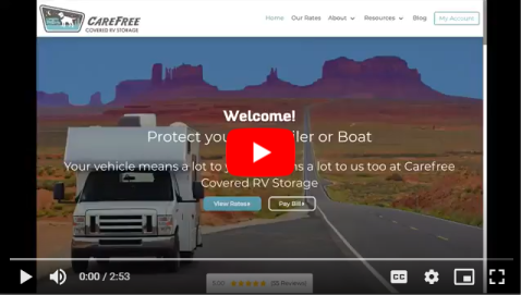 YouTube Video Tour of the Carefree Covered RV Storage Website
