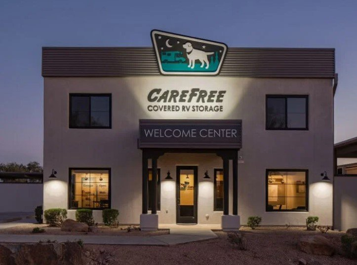 Carefree Covered RV Storage in Apache Junction Arizona