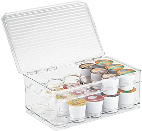 Organize your coffee station with stackable single serve coffee pod holders