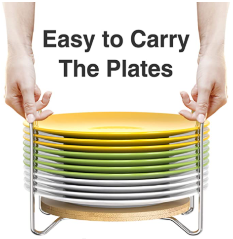 Easy to carry the plates and set a table