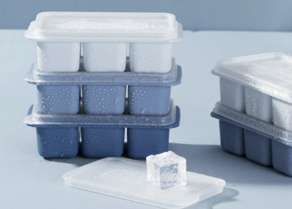 Stacked Compact Ice Cube Trays for your RV Kitchen