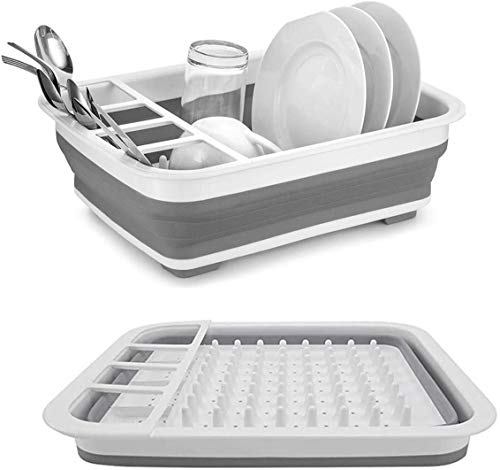 A Collapsible Dish Rack and Drainer for Your Tiny RV Kitchen