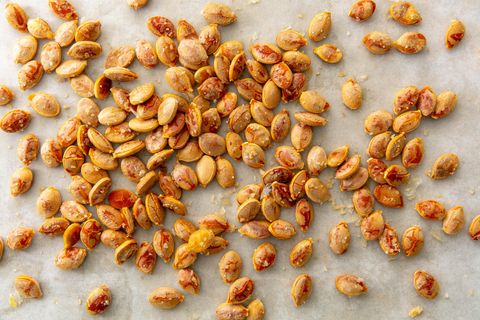Roasted Pumpkin Seeds are a great healthy option for a camping snack
