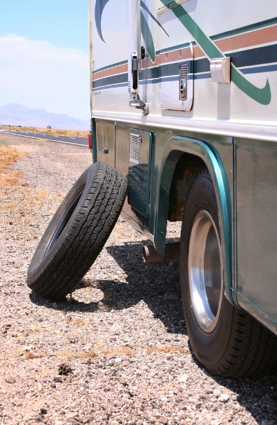 Changing an RV Tire while on the Road