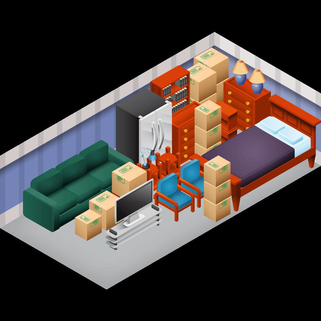 10x30 storage unit size guide