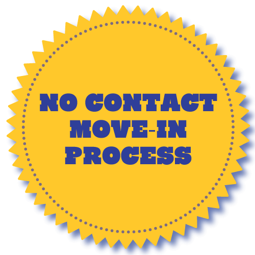 no contact move in badge