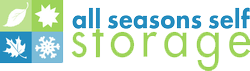 Logo for All Seasons Self Storage, click to go home