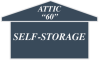 Logo for Attic 60 Self Storage, click to go home