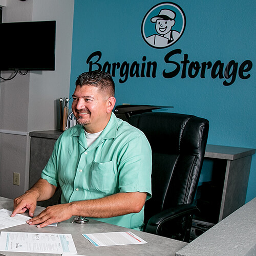 Raul, a Bargain Storage Property Manager