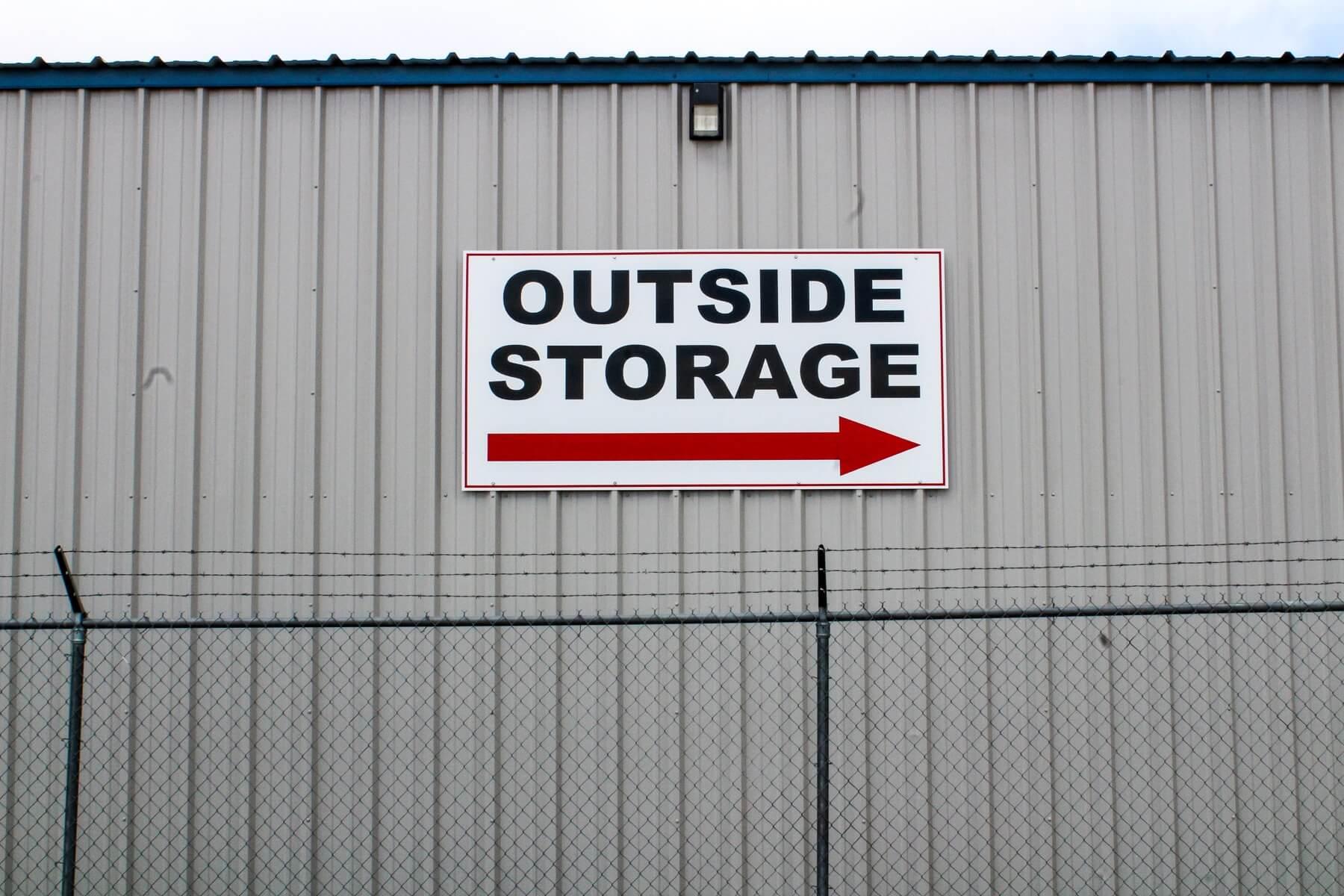 outdoor storage signage