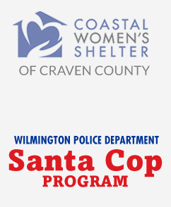 Coast Women's Center of Craven County and Wilmington Police Deptartment Santa Cop Program Logos