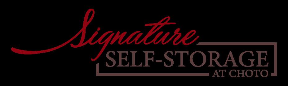 Logo for Signature Self-Storage at Choto, click to go home