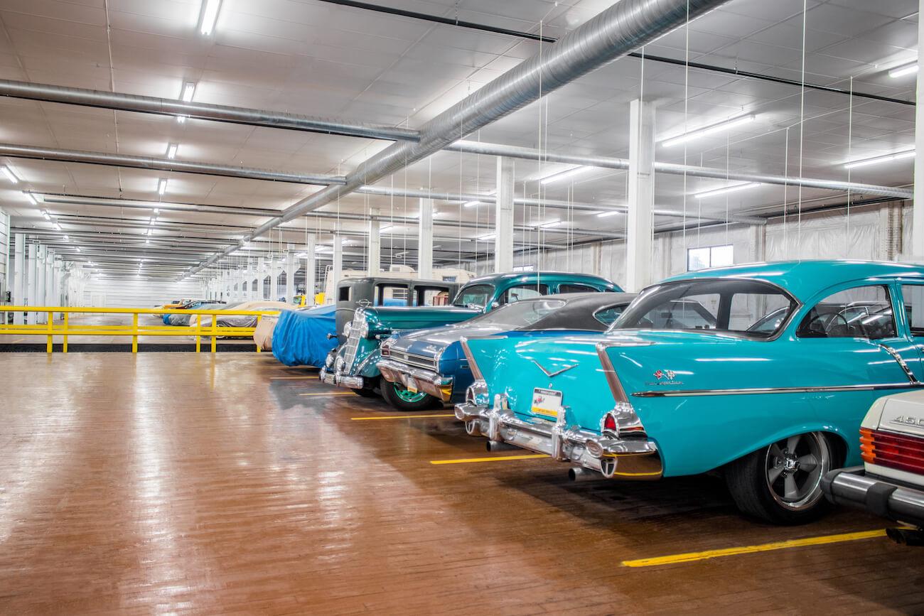 Vehicles Stored Indoor