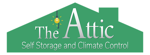Logo for The Attic Self Storage and Climate Control, click to go home